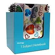 """Inkology Holographic 1 Subject Notebook, College Ruled, Assorted, 7"""" x 5"""", 12 Pack (3342)"""