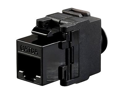 Monoprice Cat6A RJ-45 Toolless Snap Back 180-Degree Keystone Black (115963)