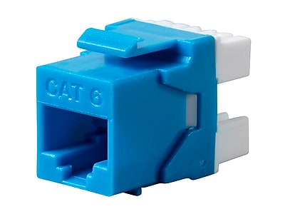 Monoprice Cat6 RJ-45 180-Degree Punch Down Keystone Dual IDC Blue (127547)