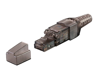 Monoprice Entegrade Series Cat6 RJ-45 Field Connection Modular Plug Unshielded for 23/24AWG Cable 10 Pack (124759)