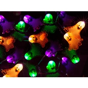 Monoprice 10 Count Flat Ghost Halloween String Light Multicolor 11.5 ft (124572)