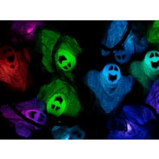 Monoprice 10 Count Cloth Gown Ghost Halloween String Light 11.5 ft (124576)