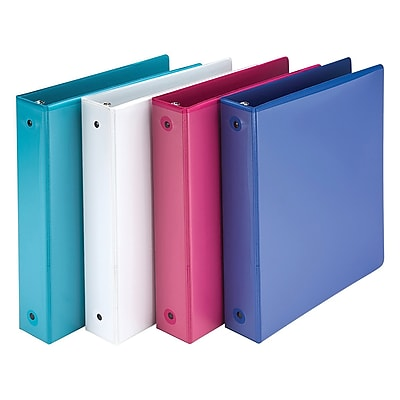 """Samsill® Economy 183 1.5"""" 3-Ring View Binder, Assorted, 4/Pack (MP28598)"""