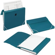 "Samsill® DUO 1"" 3-Ring 2-in-1 Organizer Binder, Turquoise (10134S)"