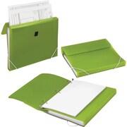 "Samsill® DUO 1"" 3-Ring 2-in-1 Organizer Binder, Green (10136)"