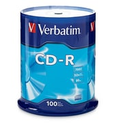 Verbatim 700MB 80MIN 52X CD-R Spindle, 100/Pack (94554)