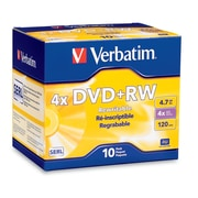 Verbatim 4.7GB 4X DVD+RW Jewel Case, 10/Pack ( 94839)