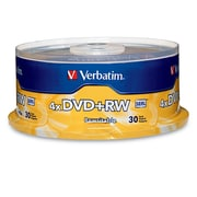 Verbatim 4.7GB 4X DVD+RW Spindle, 30/Pack (94834)