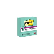 """Post-it Super Sticky Notes, 4"""" x 4"""", Aqua Wave, Lined 90 Sheets/Pad, 5 Pads/Pack (R440-WASS)"""