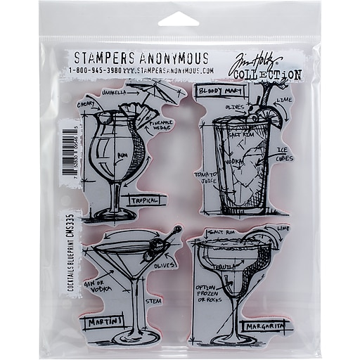 Stampers anonymous cocktails blueprint tim holtz cling stamps 7l x httpsstaples 3ps7is malvernweather Image collections