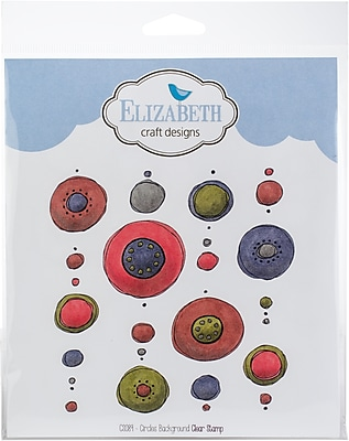 Elizabeth Craft Designs Circles Background Elizabeth Craft Clear