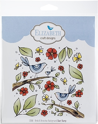 Elizabeth Craft Designs Birds Branches Background Elizabeth Craft
