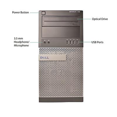 Dell 790 Tower Desktop Computer, Intel Core i5 Processor, 8GB Ram Memory, 500GB HDD, Refurbished