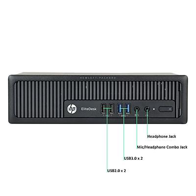 HP 800 G1 Ultra Small Form Factor Desktop Computer, Intel Core i5 Processor, 4GB RAM Memory, 500GB HDD, Refurbished