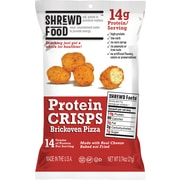 Shrewd Food Protein Crisps Brickoven Pizza, 0.74 oz, 8 Count (265-00013)