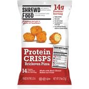 Shrewd Food Protein Crisps Brickoven Pizza, 0.74 oz, 8 Count (265-00013)