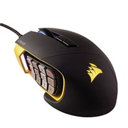 Certified Refurbished Corsair SCIMITAR Pro Wired Optical Gaming Mouse Black/Yellow (CH-9000091-WW-B)