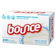 Bounce® Fabric Softener Sheets, Free and Gentle, 240 Sheets/Box