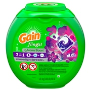 Gain flings! plus Aroma Boost Laundry Detergent Pacs, Moonlight Breeze, 72 Count