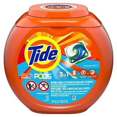 Tide PODS Liquid Detergent Pacs, Ocean Mist, 42 count