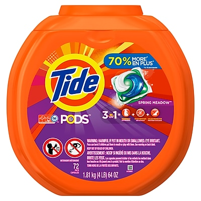 Tide® PODS Spring Meadow Liquid Detergent Pacs, 72 Pods/Pack (PGC 50978)