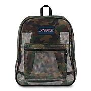 """Jansport Mesh Backpack, 17"""" x 13.8"""" x 6.5"""",  Surplus Camo (JS0A2SDG4J9)"""