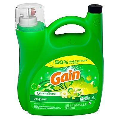 Gain Liquid Laundry Detergent, Original, 96 Loads 150 fl oz