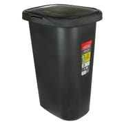 Rubbermaid FG5L5806BLA Spring Top Waste Can with LinerLock, 13 Gallon, Black