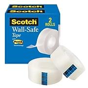 "Scotch® Wall-Safe Tape, 3/4"" x 22.22 yds., 2 Rolls/Pack (813S6)"