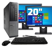 "Dell Desktop Computer 7010 Optiplex Intel  I5, 16GB, 120GB SSD, Windows 10 Pro, Dual 19"" LCD, Keyboard, Mouse, Wifi, Refurbished"