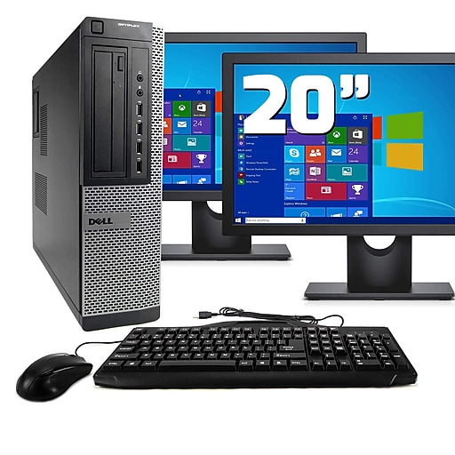 Dell OptiPlex 7010 Refurbished Desktop Computer with Dual 19