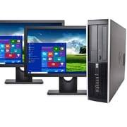 "HP Desktop Computer 8200 Intel Core I5, 8GB, 240GB SSD, Windows 10 Pro, Dual 19"" Monitors, Keyboard and Mouse, Wifi, Refurbished"
