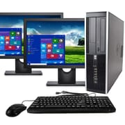 "HP Desktop Computer 8300 Intel Core I5, 8GB, 120GB SSD, Windows 10 Pro, Dual 19"" Monitors, Keyboard and Mouse, Wifi, Refurbished"