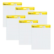 "Post-it® Super Sticky Easel Pad, 25"" x 30"", White with Grid, 30 Sheets/Pad, 6 Pads/Pack (560 VAD 6PK)"