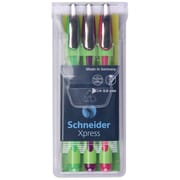 Schneider Xpress Fineliner Assorted Pens, Pack of 3 (STW190095)