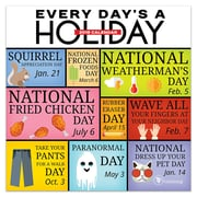 """2019 TF Publishing 7"""" X 7"""" Every Day's A Holiday Mini Calendar (19-2114)"""