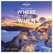 """2019 TF Publishing 5.5"""" X 5.5"""" Where To Go When By Lonely Planet Daily Desk Calendar (19-3090)"""