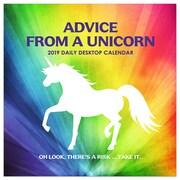 "2019 TF Publishing 5.5"" X 5.5"" Advice From A Unicorn Daily Desk Calendar (19-3201)"