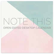 """TF Publishing 5.5"""" X 5.5"""" Note This Open Dated Daily Desk Calendar (19-3204)"""