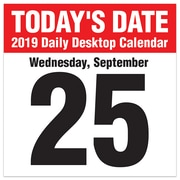 """2019 TF Publishing 5.5"""" X 5.5"""" Today's Date Daily Desk Calendar (19-3212)"""