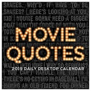 """2019 TF Publishing 5.5"""" X 5.5"""" Movie Quotes Daily Desk Calendar (19-3219)"""