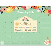 "2019 TF Publishing 22"" X 17"" Floral Desk Pad Calendar (19-8099)"