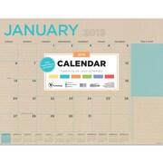 """2019 TF Publishing 22"""" X 17"""" Kraft Desk Pad Calendar (19-8215)"""