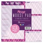"""TF Publishing 7.75"""" X 7.75"""" Violet Argyle Memo Mouse Pad Calendar (99-5015)"""