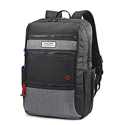 American Tourister Straightshooter Backpack, Black/Grey, (106729-1062)