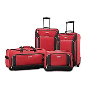 American Tourister Fieldbrook XLT, 4-Piece Set, Red/Black (92288-1733)