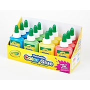 Crayola Assorted Color Washable Non-Toxic Glue, 3 Ounce Bottles, 12 Pack (69-9100)