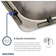 "Elkay Dayton Stainless Steel 20"" x 20"" x 10-1/8"", Single Bowl Top Mount Laundry Sink (DPC12020101)"