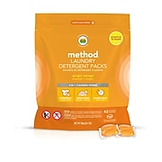 Method Laundry Detergent Packs, Ginger Mango, 42 Count (01870)