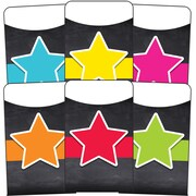 Stars Library Pockets, 36/Pack (121124)